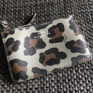 Accessories - Coach cheetah card wallet